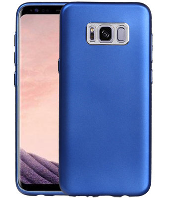 Hoesje voor Samsung Galaxy S8+ Plus Design TPU back case Blauw