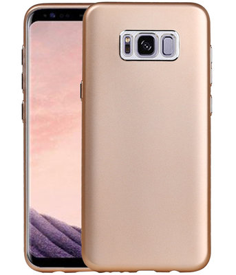 Hoesje voor Samsung Galaxy S8+ Plus Design TPU back case Goud