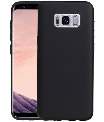 Hoesje voor Samsung Galaxy S8+ Plus Design TPU back case Zwart