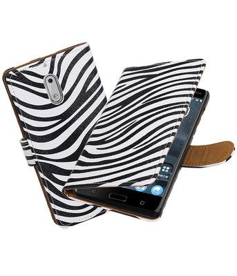 Hoesje voor Nokia 6 Zebra booktype