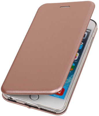 Hoesje voor Apple iPhone 6 Plus / 6s Plus Folio leder look booktype Roze