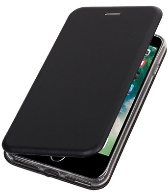 Apple iPhone 7 Plus / 8 Plus Folio leder look booktype hoesje Zwart