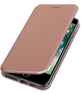 Hoesje voor Apple iPhone 7 Plus / 8 Plus Folio leder look booktype Roze