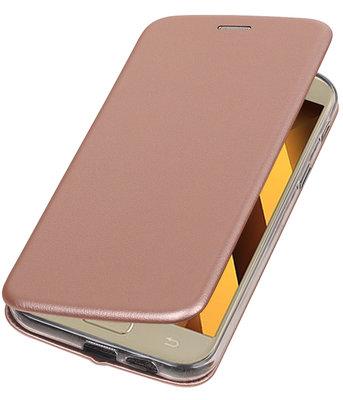 Hoesje voor Samsung Galaxy A7 2017 A720F Folio leder look booktype Roze