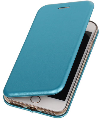 Apple iPhone 7 Plus / 8 Plus Folio leder look booktype hoesje Blauw