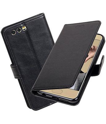 Zwart Portemonnee booktype Hoesje voor Huawei Honor 9
