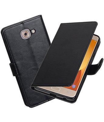Zwart Portemonnee booktype Hoesje voor Samsung Galaxy J7 Max
