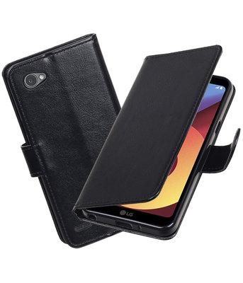 Zwart Portemonnee booktype hoesje LG Q6