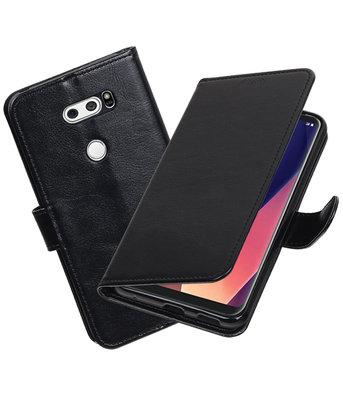 Zwart Portemonnee booktype Hoesje voor LG V30