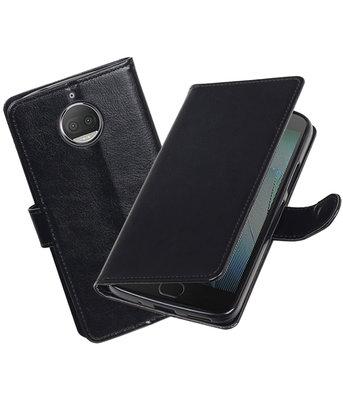 Zwart Portemonnee booktype Hoesje voor Motorola Moto G5s Plus