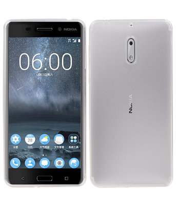 Nokia 6 Smartphone Cover Hoesje Transparant