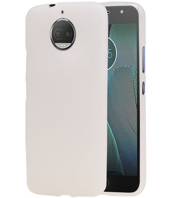 Hoesje voor Motorola Moto G5s Plus Design TPU back case Wit