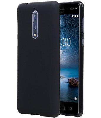 Hoesje voor Nokia 8 Design TPU back case Zwart