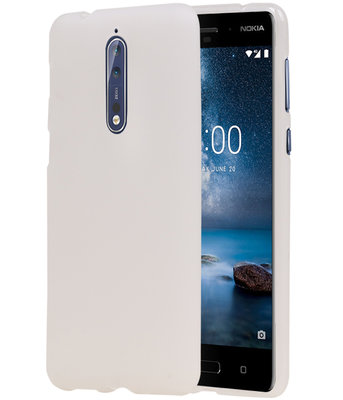 Hoesje voor Nokia 8 Design TPU back case Wit