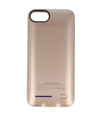 Goud smart batterij / battery case met stand functie voor Hoesje voor Apple iPhone 6 / 6s / 7 / 8
