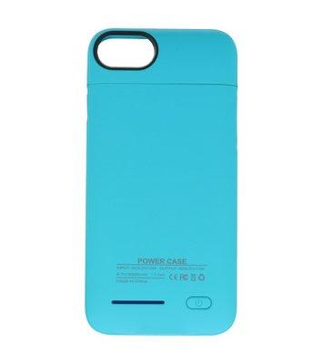 Blauw smart batterij Hoesje voor Apple iPhone 6 Plus / 6s Plus en iPhone 7 Plus