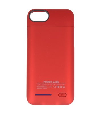 Rood smart batterij Hoesje voor Apple iPhone 6 / 6s en Hoesje voor Apple iPhone 7 en iPhone 8