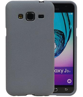 Grijs Zand TPU back case cover voor Hoesje voor Samsung Galaxy J3