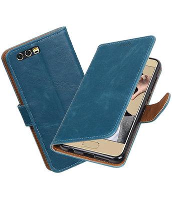 Hoesje voor Huawei Honor 9 Pull-Up booktype Blauw