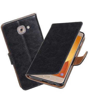 Hoesje voor Samsung Galaxy J7 Max Pull-Up booktype Zwart