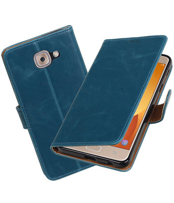 Hoesje voor Samsung Galaxy J7 Max Pull-Up booktype Blauw