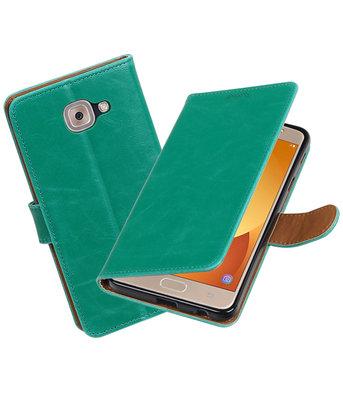 Hoesje voor Samsung Galaxy J7 Max Pull-Up booktype Groen