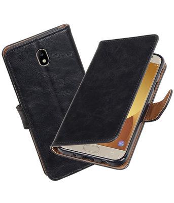 Hoesje voor Samsung Galaxy J7 2017 / Pro Pull-Up booktype Zwart