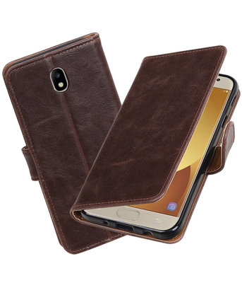 Hoesje voor Samsung Galaxy J7 2017 / Pro Pull-Up booktype Mocca
