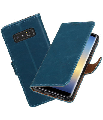 Hoesje voor Samsung Galaxy Note 8 Pull-Up booktype blauw