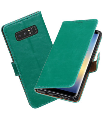 Hoesje voor Samsung Galaxy Note 8 Pull-Up booktype groen