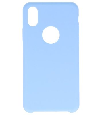 Apple iPhone X Premium TPU back case hoesje Licht Blauw