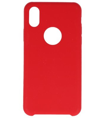 Apple iPhone X Premium TPU back case hoesje Rood