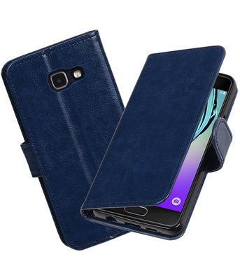 Donker Blauw Portemonnee booktype Hoesje voor Samsung Galaxy A3 2016