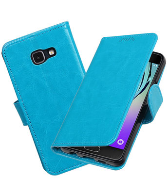 Turquoise Portemonnee booktype Hoesje voor Samsung Galaxy A3 2016 A310