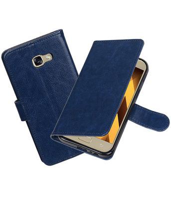 Donker Blauw Portemonnee booktype hoesje Samsung Galaxy A5 2017