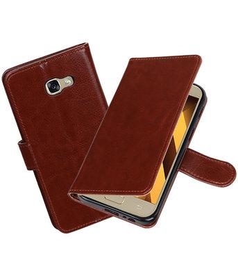 Bruin Portemonnee booktype hoesje Samsung Galaxy A5 2017 A520