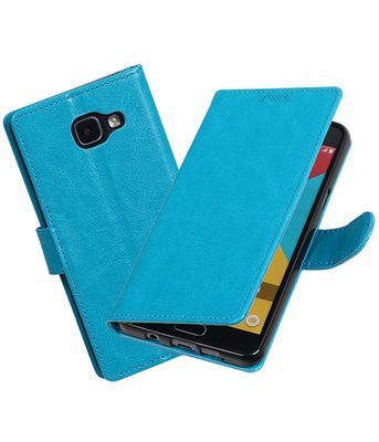 Turquoise Portemonnee booktype Hoesje voor Samsung Galaxy A5 2016 A510