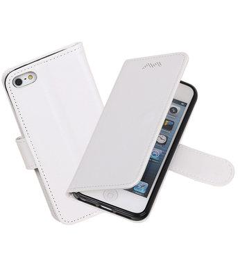 Wit Portemonnee booktype hoesje Apple iPhone 5 / 5s / SE