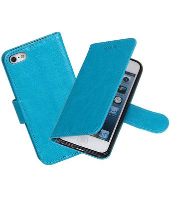 Turquoise Portemonnee booktype hoesje Apple iPhone 5 / 5s / SE