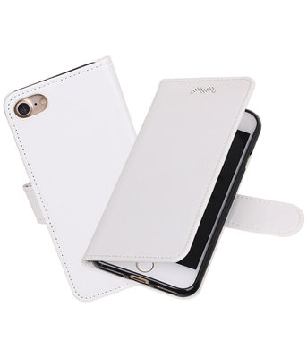 Wit Portemonnee booktype Hoesje voor Apple iPhone 7 / 8