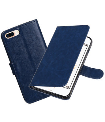 Donker Blauw Portemonnee booktype hoesje Apple iPhone 7 Plus / 8 Plus