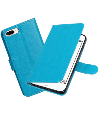 Turquoise Portemonnee booktype Hoesje voor Apple iPhone 7 Plus / 8 Plus