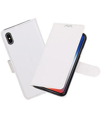 Wit Portemonnee booktype hoesje Apple iPhone X