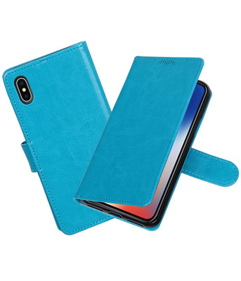 Turquoise Portemonnee booktype hoesje Apple iPhone X