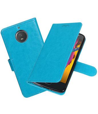 Turquoise Portemonnee booktype Hoesje voor Motorola Moto G5s Plus