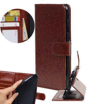 Bruin Portemonnee booktype Hoesje voor Huawei Y7 / Y7 Prime