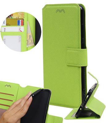 Groen Hoesje voor Motorola Moto G5s Plus TPU wallet case booktype HM Book
