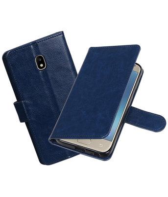 Donker Blauw Portemonnee booktype hoesje Samsung Galaxy J3 2017