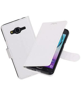 Wit Portemonnee booktype Hoesje voor Samsung Galaxy J3 2016