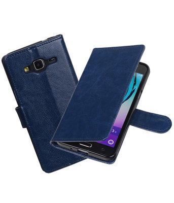 Donker Blauw Portemonnee booktype hoesje Samsung Galaxy J3 2016